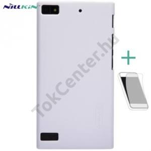BlackBerry Z3 NILLKIN SUPER FROSTED műanyag telefonvédő (gumírozott, érdes felület, képernyővédő fólia, tisztítókendő) FEHÉR