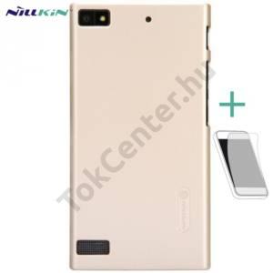 BlackBerry Z3 NILLKIN SUPER FROSTED műanyag telefonvédő (gumírozott, érdes felület, képernyővédő fólia, tisztítókendő) ARANY