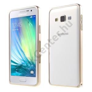 Samsung Galaxy A3 (SM-A300F) Telefonvédő alumínium keret (BUMPER) ARANY
