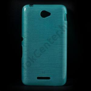 Sony Xperia E4 (E2105) Telefonvédő gumi / szilikon (szálcsiszolt mintázat) KÉK