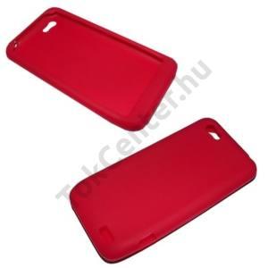 HTC One V (T320e) Telefonvédő gumi / szilikon PIROS