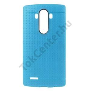 LG G4 (H815) Telefonvédő gumi / szilikon (lyukacsos minta) VILÁGOSKÉK