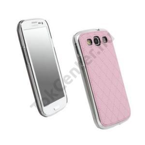 Samsung Galaxy S III. (GT-I9300) KRUSELL AVENYN műanyag telefonvédő (bőr hátlap) RÓZSASZÍN