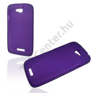 HTC One S (Z520e) Telefonvédő gumi / szilikon LILA