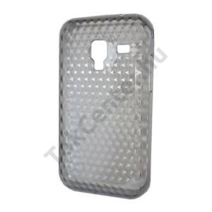 Samsung Galaxy Ace Plus (GT-S7500) Telefonvédő gumi / szilikon (gyémántmintás) FÜSTSZÍNŰ