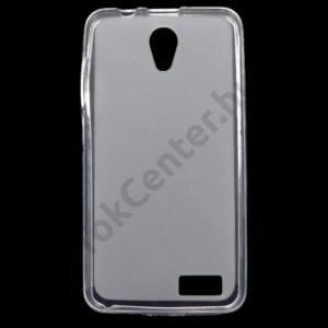 Lenovo A319 Telefonvédő gumi / szilikon (fényes keret) ÁTLÁTSZÓ