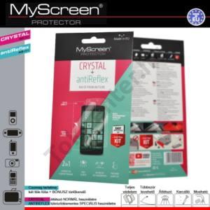 Képernyővédő fólia törlőkendővel (2 féle típus) CRYSTAL áttetsző /ANTIREFLEX tükröződésmentes