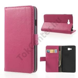 LG Optimus L9 II. (D605) Tok álló, bőr (FLIP, mágneses, oldalra nyíló, bankkártya tartó, asztali tartó funkció) RÓZSASZÍN