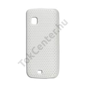 Nokia C5-03 Műanyag telefonvédő lyukacsos FEHÉR