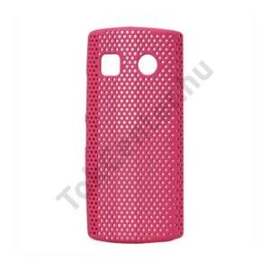 Nokia 500  Műanyag telefonvédő lyukacsos RÓZSASZÍN