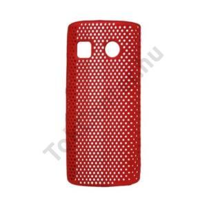 Nokia 500  Műanyag telefonvédő lyukacsos PIROS