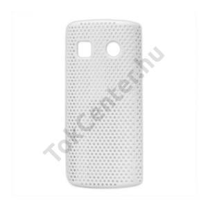 Nokia 500  Műanyag telefonvédő lyukacsos FEHÉR