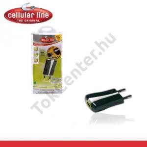 Hálózati adapter USB aljzat (5V / 1000mA, kábel NÉLKÜL!) FEKETE