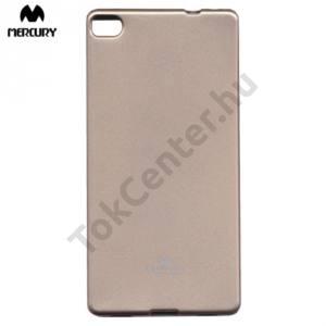 Huawei P8 MERCURY Goospery telefonvédő gumi / szilikon (csillámporos) ARANY