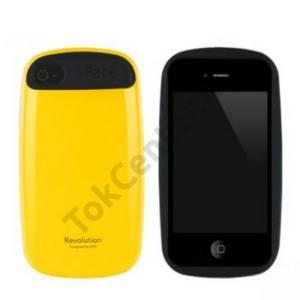 Apple iPhone 4 iFace műanyag telefonvédő SÁRGA