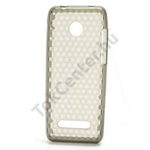 Nokia 206 Telefonvédő gumi / szilikon (gyémántmintás) FÜSTSZÍNŰ