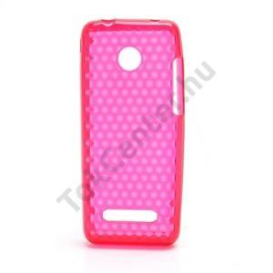 Nokia 206 Telefonvédő gumi / szilikon (gyémántmintás) PIROS
