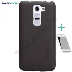 LG G2 mini (D620) NILLKIN SUPER FROSTED műanyag telefonvédő (gumírozott, érdes felület, képernyővédő fólia, tisztítókendő) BARNA