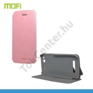 Alcatel Idol Alpha (OT-6032X) MOFI RUI tok álló, bőr (FLIP, oldalra nyíló, asztali tartó funkció) RÓZSASZÍN