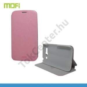 Alcatel Pop C9 (OT-7047) MOFI RUI tok álló, bőr (FLIP, oldalra nyíló, asztali tartó funkció) RÓZSASZÍN