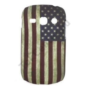 Samsung Galaxy Fame (GT-S6810) Műanyag telefonvédő (zászlóminta) USA