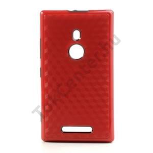 Nokia Lumia 925 Műanyag telefonvédő (gyémántmintás) PIROS/FEKETE