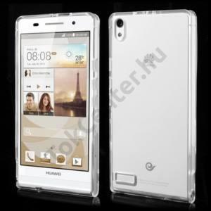 Huawei Ascend P6 (P6-U06) Telefonvédő gumi / szilikon ÁTLÁTSZÓ