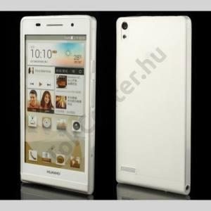 Huawei Ascend P6 (P6-U06) Műanyag telefonvédő (ultravékony) FEHÉR