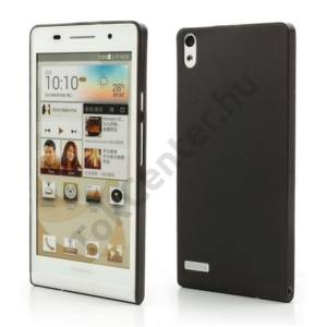 Huawei Ascend P6 (P6-U06) Műanyag telefonvédő (ultravékony) FEKETE
