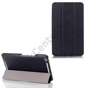 Asus Memo Pad 8 (ME581CL) Tok álló, bőr (FLIP, mágneses, TRIFOLD, oldalra nyíló, asztali tartó funkció) FEKETE