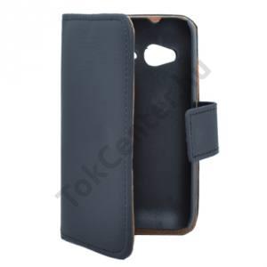 Alcatel Pop D1 (OT-4018D) Tok álló, bőr (FLIP, mágneses, oldalra nyíló, bankkártya tartó) FEKETE