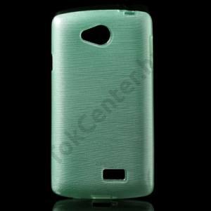 LG F60 (D390N) Telefonvédő gumi / szilikon (szálcsiszolt mintázat) CYAN