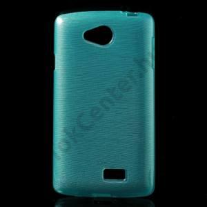 LG F60 (D390N) Telefonvédő gumi / szilikon (szálcsiszolt mintázat) KÉK