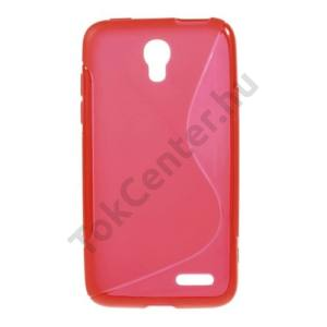 Alcatel Pop S3 (OT-5050Y) Telefonvédő gumi / szilikon (S-line) PIROS