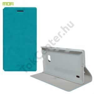Nokia Lumia 929 MOFI RUI tok álló, bőr (FLIP, oldalra nyíló, asztali tartó funkció) VILÁGOSKÉK