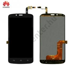 Huawei Honor Holly LCD kijelző komplett panel (kerettel, érintőpanellel) FEKETE