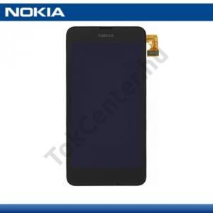Nokia Lumia 630 LCD kijelző komplett panel (kerettel, érintőpanellel) FEKETE