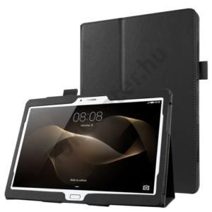 HUAWEI MediaPad M2 10 Tok álló, bőr (FLIP, asztali tartó funkció) FEKETE