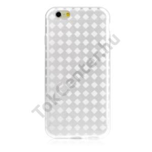 Apple iPhone 6 4.7`` Telefonvédő gumi / szilikon (rombuszmintás) ÁTLÁTSZÓ