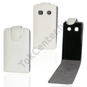 Nokia 500  Tok álló, bőr (FLIP, mágneses) FEHÉR