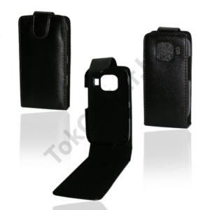 Nokia C2-03 Tok álló, bőr (FLIP, mágneses) FEKETE