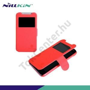 HTC Desire 310 NILLKIN FRESH műanyag telefonvédő (bőr flip, mágneses, oldalra nyíló, hívószámkijelzés, S-View Cover) PIROS