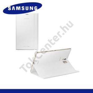 Samsung Galaxy Tab S 8.4 LTE (SM-T705) Műanyag telefonvédő (FLIP, oldalra nyíló, asztali tartó funkció) FEHÉR