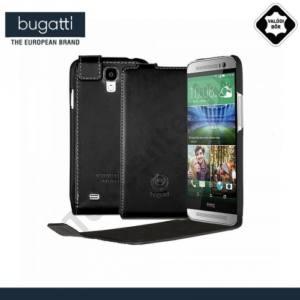 Samsung Galaxy S V. (SM-G900) BUGATTI FlipCover OSLO tok álló, valódi bőr (FLIP, mágneses) FEKETE