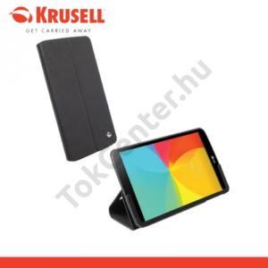LG G Pad 8.0 (V480) KRUSELL MALMÖ bőr tok (FLIP, asztali tartó funkció) FEKETE