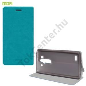 LG G3 S (D722) MOFI RUI tok álló, bőr (FLIP, oldalra nyíló, asztali tartó funkció, szilikon tartó) VILÁGOSKÉK