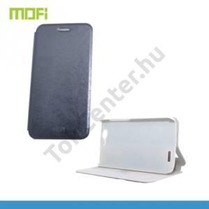 Huawei Ascend G7 MOFI RUI tok álló, bőr (FLIP, oldalra nyíló, asztali tartó funkció, szilikon tartó) FEKETE