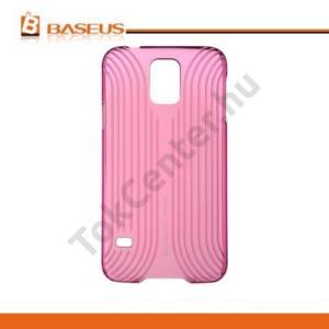 Samsung Galaxy S V. (SM-G900) BASEUS SEASHELL LINE műanyag telefonvédő ÁTLÁTSZÓ PIROS