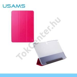 Samsung Galaxy Note Pro 12.2 (SM-P900) USAMS STARRY SKY műanyag telefonvédő (flip, oldalra nyíló, asztali tartó funkció) MAGENTA