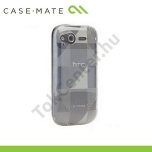 HTC Desire S  (Saga CASE-MATE telefonvédő gumi GELLI - sakktáblamintás ÁTLÁTSZÓ
